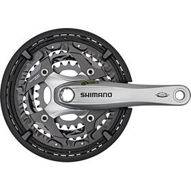 Shimano Trekking FC-T521 Octalink Crank Set 3x10-växlad 48-36-26 Tänder silver